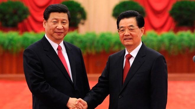 Ông Hồ Cẩm Đào và ông Tập Cận Bình