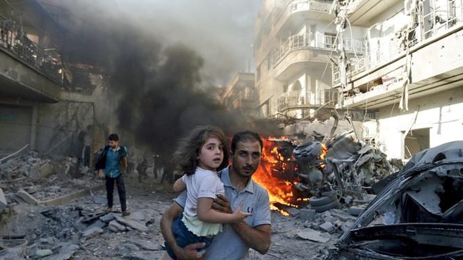 Chiến sự khốc liệt ở Syria.