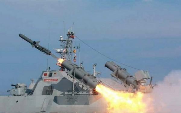 Triều Tiên bắn thử tên lửa chống hạm kiểu mới. (Nguồn: Yonhap/TTXVN)