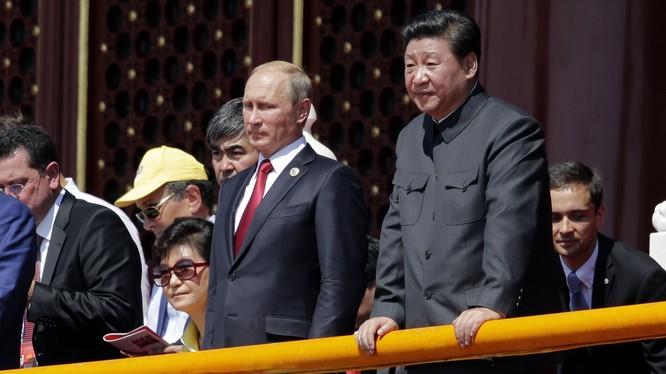 Tổng thống Nga Putin và Chủ tịch Trung Quốc Tập Cận Bình.