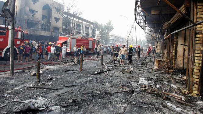 Đánh bom kép ở Baghdad.