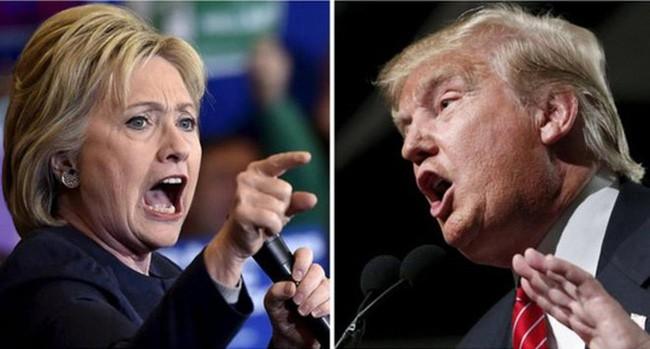 "Donald Trump và Hillay Clinton ""khẩu chiến"""