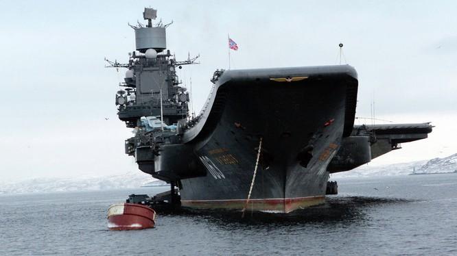 Tàu sân bay Đô đốc Kuznetsov.