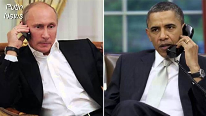 Tổng thống Putin và Tổng thống Obama vừa có cuộc hội đàm qua điện thoại (ảnh minh họa).