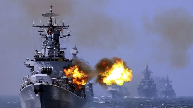Hải quân Trung Quốc tập trận phô diễn sức mạnh (ảnh minh họa)
