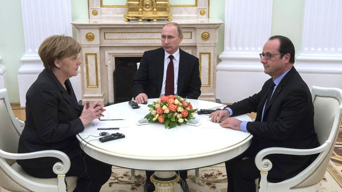 Putin-Merkel-Hollande điện đàm về khủng hoảng nội bộ Ukraine (ảnh minh họa)