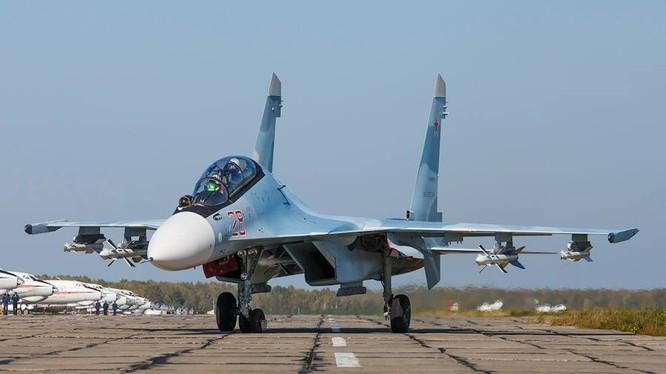 Máy bay chiến đấu Su-30SM của Không quân Nga.