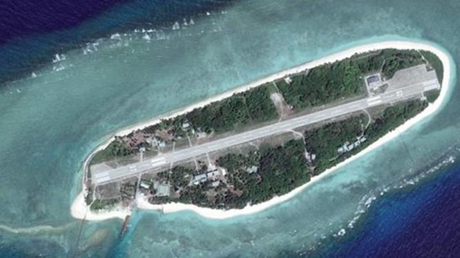 Đảo Ba Bình thuộc quân đảo Trường Sa, Việt Nam, hiện bị Đài Loan chiếm đóng bất hợp pháp. Ảnh: UDN.