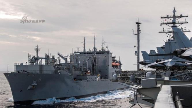 Biên đội tàu sân bay USS Ronald Reagan hoạt động trên Biển Đông ngày 5/7/2016. Ảnh: Sina