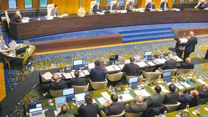 Hôm nay (ngày 12/7/2016), Tòa trọng tài thường trực Liên hợp quốc công bố kết quả vụ Philippines kiện Trung Quốc trong vấn đề Biển Đông. Ảnh: Chinatimes.