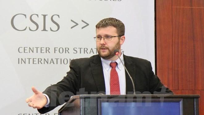 Giám đốc CSIS, ông Greg Polin. (Ảnh: Thanh Tuấn/Vietnam+)
