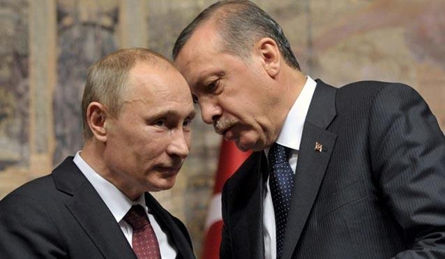 Lãnh đạo Nga - Thổ Nhĩ Kỳ (ông Putin và ông Erdogan).