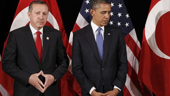 Tổng thống Thổ Nhĩ Kỳ Recep Tayyip Erdogan và Tổng thống Mỹ Obama (ảnh minh họa).