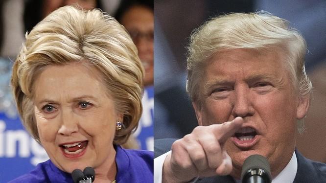 Ông Donald Trump và bà Hillary Clinton