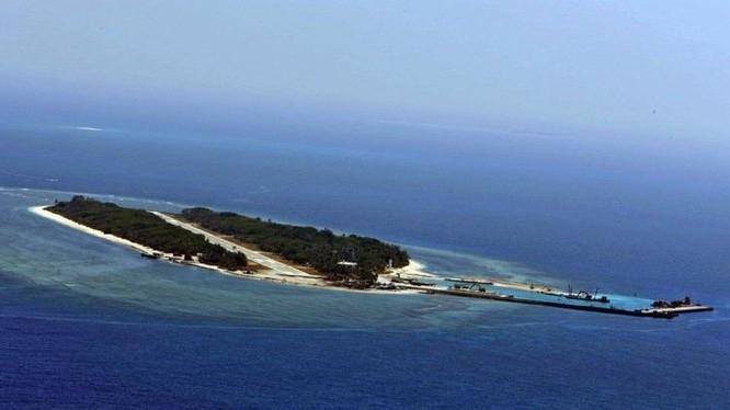 Đảo Ba Bình thuộc quần đảo Trường Sa của Việt Nam, hiện bị Đài Loan chiếm đóng bất hợp pháp. Ảnh: UDN Đài Loan.