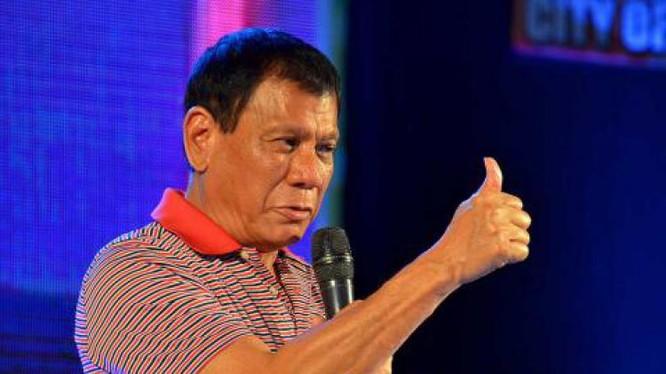 Tổng thống Philippines Rodrigo Duterte. Ảnh: Sina Trung Quốc.