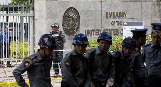 Nổ tại Đại sứ quán Mỹ ở thành phố Yangon, Myanmar.
