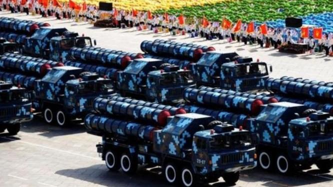 Hệ thống tên lửa phòng không tầm xa HQ-9 Trung Quốc. Ảnh: Tin tức Tham khảo Trung Quốc.