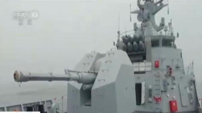 Đài truyền hình CCTV Trung Quốc đưa tin về việc Trung Quốc bàn giao tàu hộ vệ C28A cho Algeria.