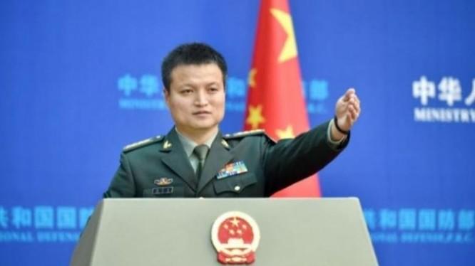 Ngày 28/7/2016, Đại tá Dương Vũ Quân, người phát ngôn Bộ Quốc phòng Trung Quốc tuyên bố Hải quân Trung Quốc và Nga sẽ tổ chức tập trận chung ở Biển Đông vào tháng 9/2016. Ảnh: Thời báo Tự do, Đài Loan.