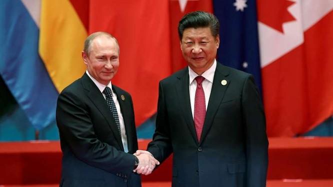 Lãnh đạo hai nước Nga - Trung Quốc.