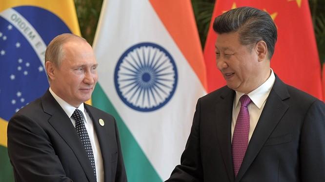 Ông Putin và ông Tập Cận Bình.
