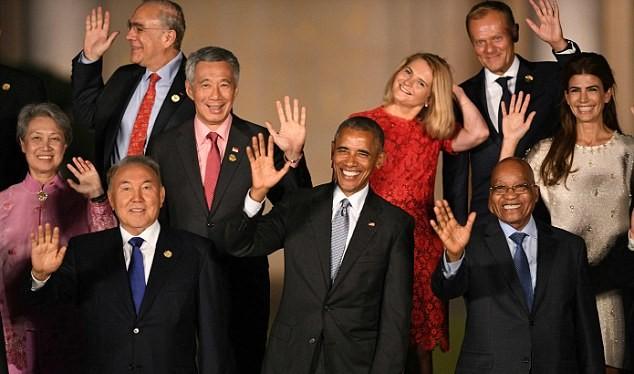 Tổng thống Obama và và các nguyên thủ G-20 tại Trung Quốc.