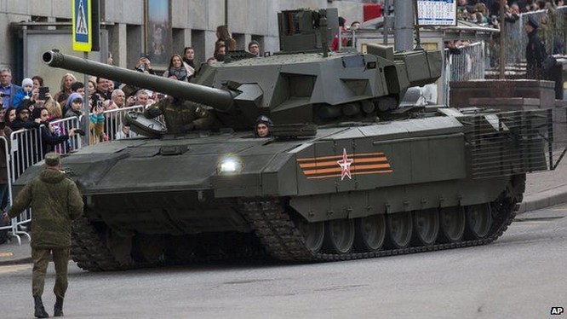 Quân đội Nga ký hợp đồng cung cấp lô xe tăng Armata đầu tiên.