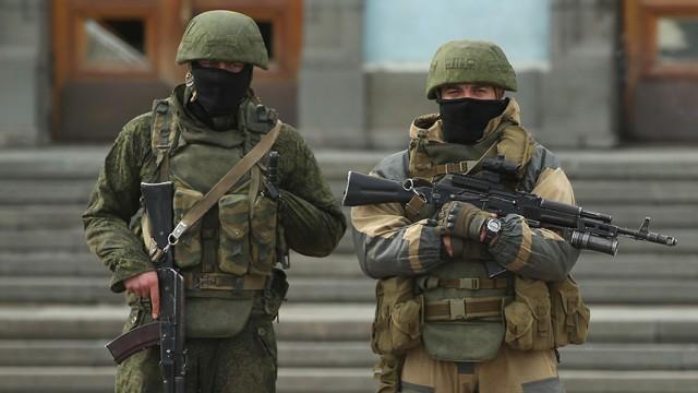 Quân đội Nga ở Crimea (ảnh minh họa).