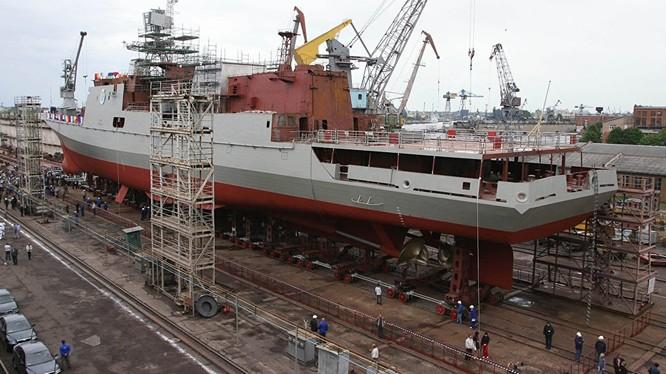 Ấn Độ có thể mua 4 tàu khu trục Dự án 11356 của Nga (ảnh Sputnik)