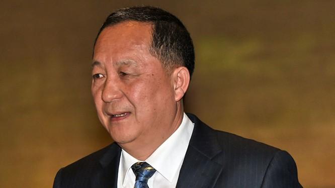 Bộ trưởng Ngoại giao Triều Tiên Ri Yong-ho.