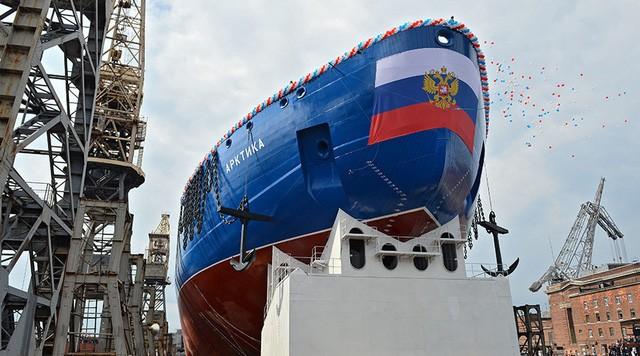 Tàu phá băng Nga.