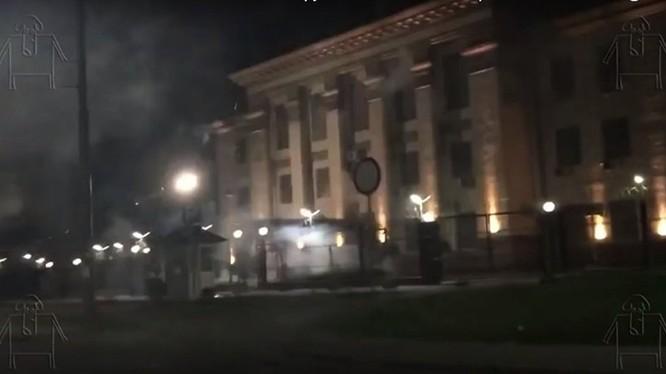 Đại sứ quán Nga tại Kiev, Ucraine bị tấn công