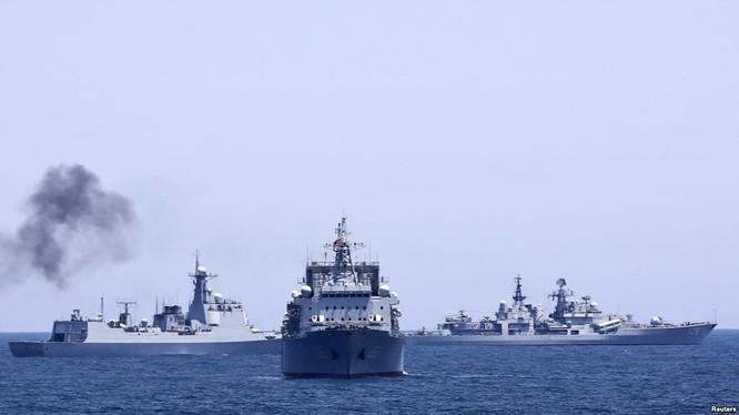 Trung Quốc - Nga tập trận ở Biển Đông (ảnh minh họa).
