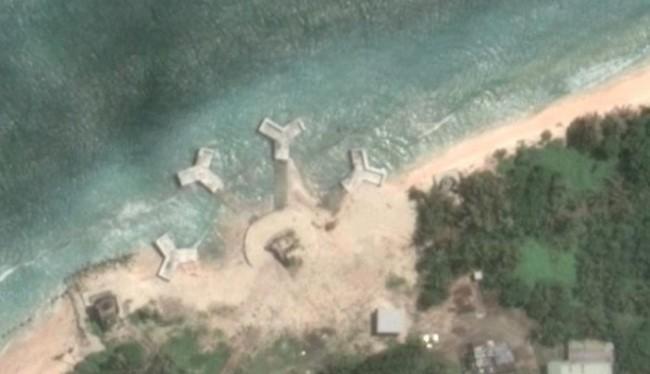 Xuất hiện 4 kết cấu bí mật, kỳ lạ trên đảo Ba Bình ở quần đảo Trường Sa (chủ quyền của Việt Nam).