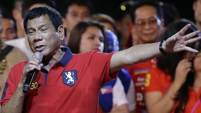 Tổng thống Philippines Duterte.
