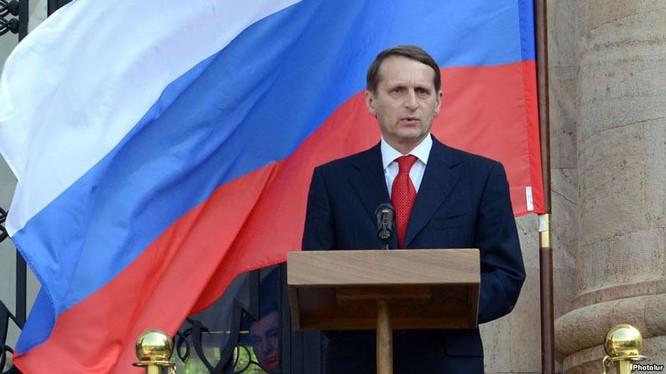 Ông Sergei Naryshkin - Tân Giám đốc Cơ quan tình báo đối ngoại Nga.