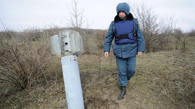 Quân đội Ukraine thử nghiệm tên lửa mới, (ảnh minh họa: Sputnik)