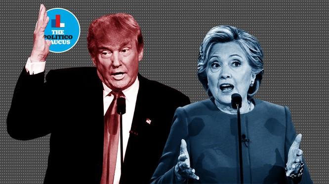 Hai ứng viên Donald Trump và Hillary Clinton.