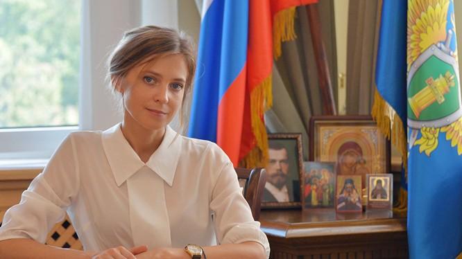 Nữ công tố viên Crimea Poklonskaya.