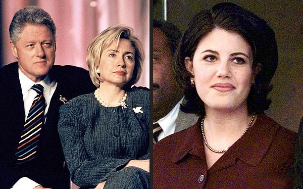 Vợ chồng cựu Tổng thống Bill Clinton và vụ scandal với cô Monica Lewinsky.