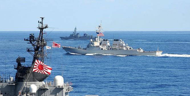 Hải quân Mỹ - Nhật (ảnh minh họa)