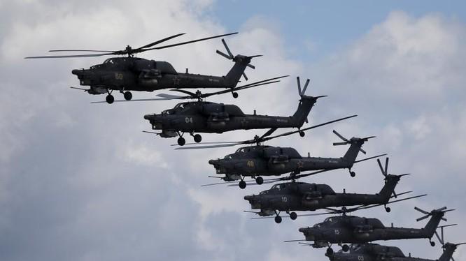 Máy bay trực thăng của quân đội Nga (ảnh minh họa)
