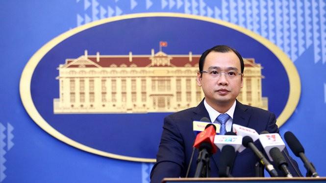 Người phát ngôn Bộ ngoại giao Việt Nam Lê Hải Bình - Ảnh: Nguyễn Khánh.