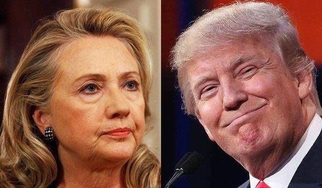 Ông Donald Trump và bà Hillary Clinton.
