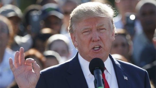 Ứng viên tổng thống Đảng Cộng hòa Donald Trump.
