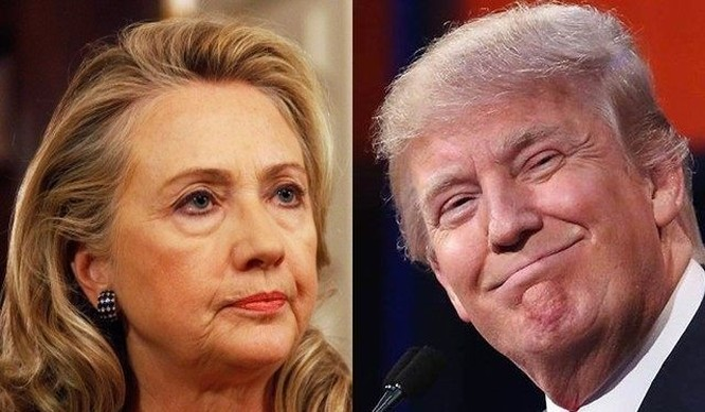 Hai ứng viên Hillary Clinton và Donald Trump.