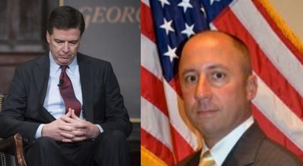 Giám đốc FBI James Comey (bên trái) và ông Reynaldo Tariche.
