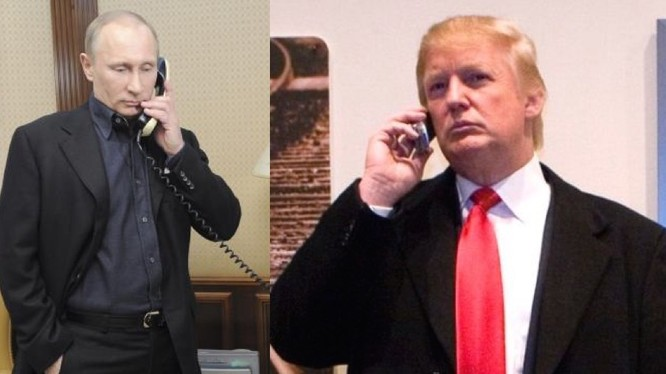 Tổng thống Nga Putin điện đàm với ông Donald Trump