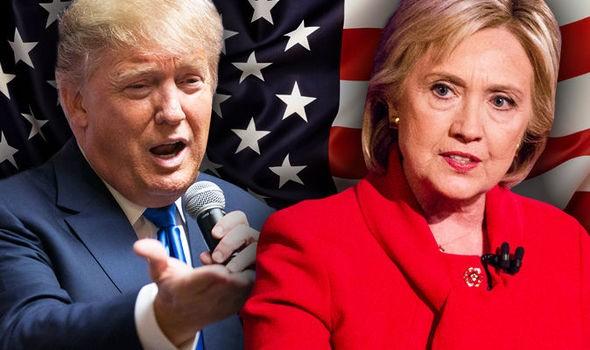 Ông Trump và bà Hillary Clinton.